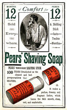 Pears Shaving Soap 1884 reproduction Advertising Poster A4 photo