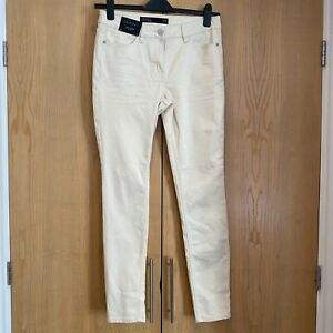 BNWT NEXT Cream Skinny Denim Jeans Size 12R Couture Collection Ivory Trousers