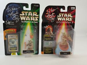 Frank Oz Personalised Autographed Signed Yoda Star Wars Action Figures Original