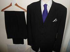 VGC* 46L (36X33) SKOPES Men's Single Breasted 2 PIECE Black Suit 46L W36 L33