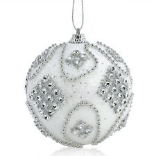 8CM  Rhinestone Glitter Christmas Balls Baubles Xmas Tree Hanging Ornament Decor