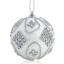 8CM  Rhinestone Glitter Christmas Balls Baubles Xmas Tree Hanging Ornament Decor