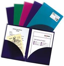 Angebotsmappe A4 mit Innentasche transparent farbig (5Stück)