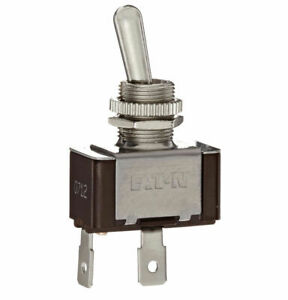 NEW Eaton XTD1A1A2  1 Pole Nickel On/Off Toggle Switch 20A 125VAC / 10A 277VAC