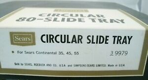 (1)Vintage Sears 9979 Circular 80-Slide Tray for Continental/Carousel Projectors