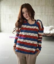 Brand New Japan Mori Style Striped Soft Loose Sweater Blouse Shirt Top Size XS