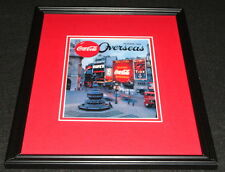 1954 Coca Cola Overseas Framed 11x14 Poster Display Official Repro
