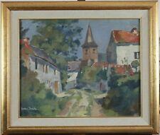 Lodew Booscke, 1900, Joli village ensoleillé, Très bien encadré, Cotes 1.000 €