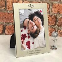 I Love You 5x7 Silver Photo Frame For Boyfriend Girlfriend Gift Valentines Day
