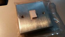 Satin/Brushed Chrome  Switch - White Trim New Old Stock