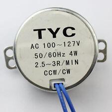 New Stock Synchronous Synchron Motor 50/60hz Ac 110v 4w 2.5/3Rpm Cw/ccw J96E