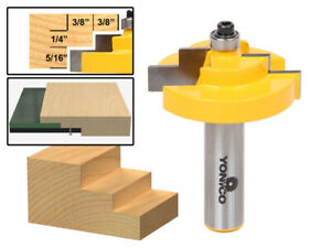 """1/4"""" Glass Stepped Rabbet Router Bit - 1/2"""" Shank - Yonico 18126"""