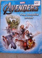Marvel Avengers Doodle Book Thor Iron Man Capt America Black Widow Hulk Hawkeye