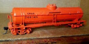 HA5 HO Scale Train Box Car CREAM ORANGE MOW CB&Q BURLINGTON KADEES TANKER