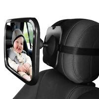 Baby Car Mirror Adjustable Car Back Seat Rearview Facing Headrest Mount/*