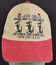 Beige Mardi Gras New Orleans Alligator Saxophone baseball hat cap adjustable