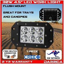 "30W 4.5"" CREE LED flush mount spot light ute tray bull bar canopy 4x4 4wd"