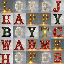 12'' LED Marquee Letter Lights A-Z Circus Style Alphabet Light Up Shop Home Sign