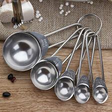 Measuring Spoon Set Stainless Steel Kitchen Utensil Baking Cooking Tool 5pc