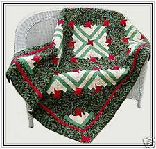 Friendship Log Cabin Quilt Pattern Lap or Twin and Queen Size Holiday #413