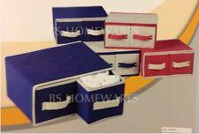 Polipropilene non tessuto Fai Da Te Stoccaggio Pieghevole 2 cassetti organizer Box Assortiti
