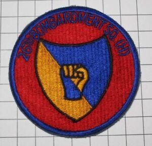 USAF AIR FORCE MILITARY PATCH 26TH BOMB SQUADRON SAC STRATEGIC AIR COMMAND V2