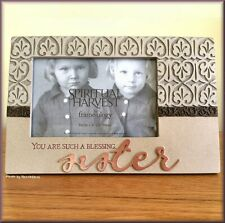 """Sister Blessing Frame by Encore Gift 4.5"""" x 6.5"""" Picture Frame Free U.S. Ship"""