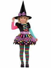 Kids Girls Toddler Miss Matched Witch Costume Halloween Fancy Dress Tights Age 4 5 6 Years Size up to 110cm