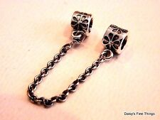 NEW! AUTHENTIC PANDORA CHARM .925 SILVER DAISY SAFETY CHAIN #790385