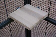 pipano Sitzbrett Ecke 15 x 15 cm, Buche, Schlafplatz, Wellensittich SEB1515