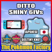 Pokemon Sword & Shield - JAPANESE Ditto - 6IV - Shiny - Destiny Knot - Pokerus