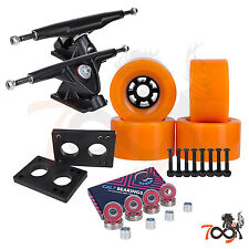 Cal 7 Longboard Flywheel 180mm Truck Bearing 90mm Orange Skateboard Wheels