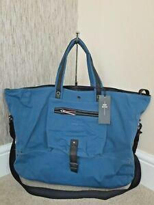 JEROME DREYFUSS STEEL BLUE BILLY TOTE / OVERNIGHT BAG BNWT