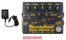 Tech 21 NYC Sansamp Para Driver DI Preamp Pedal V2 100%  Analog ( POWER SUPPLY )