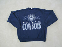 VINTAGE Dallas Cowboys Sweater Adult Large Blue Silver NFL Football Mens 90s