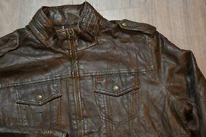 MEN'S GENUINE LEVI'S PVC Leather Imitation Jacket size L