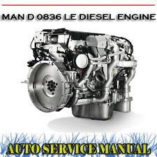 MAN D 0836 LE DIESEL ENGINE D0836LE WORKSHOP SERVICE REPAIR MANUAL ~ DVD