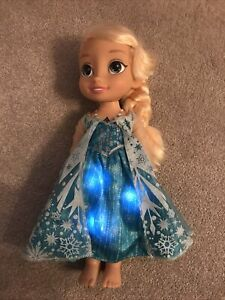 Disney Frozen Princess Toddler Doll Singing Elsa With Light Up Dress