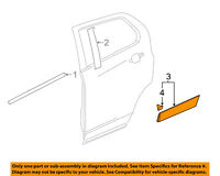 Chevrolet GM OEM-Door Window Sweep-Belt Molding Weatherstrip Right 84180438