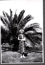 VINTAGE PHOTOGRAPH 1940'S WOMEN'S GIRLS DRESS HAT SHOES FASHION CALIFORNIA PHOTO