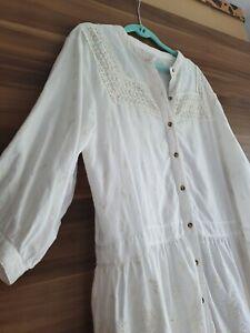 Zara Tunika Bluse Minikleid Hippie Ibiza Gr.xl 42 44 Bestickt Oversize
