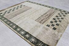 R23822 Contemporary Green Tibetan Area Rug 8' X 10' Wool/ Silk Handmade In Nepal