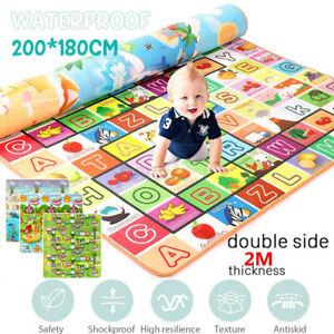 Baby Kids Floor Play Mat Rug Picnic Room Cushion Crawling Mat Pad Waterproof AU