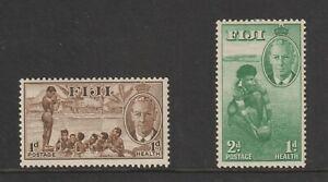 Stamps - Fiji - 1951 Health Stamps - SG276 & SG277 - MLH