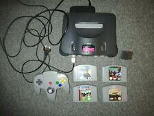 Nintendo 64 Grau Spielekonsole + Wave Race + Lylat wars + Soccer + Lamborgini