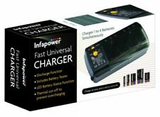 Infapower Universal Rechargeable Indicator 4in1 Fast AAA 9v Battery Charger LED