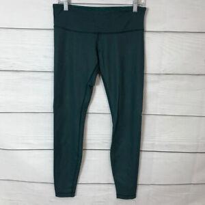 Lululemon Wunder Under Green Denim Size 8 Leggings Yoga Workout