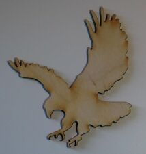 (3) 3 Inch x 3 Inch Eagles Craft Project Wood Cutout Scrapbooking EAGLE1