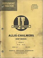 AC-14 I&T Shop Service Repair Manual for Allis Chalmers Models D10 D12 D-10 D-12