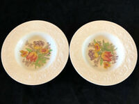 "Set Of 2 Booths Silicon China England Corinthian Larkspur VTG 8"" Soup Bowls"